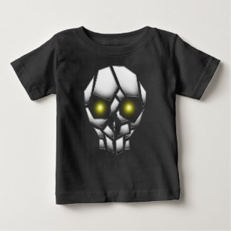 Chrome Plated Skull with Glowing Eyes Baby T-Shirt