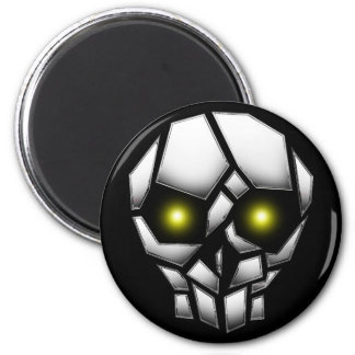 Chrome Plated Skull with Glowing Eyes Magnet