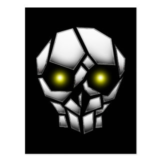 Chrome Plated Skull with Glowing Eyes Postcard