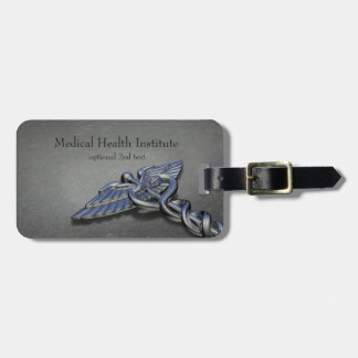 Chrome Professional Medical Caduceus - Luggage Tag