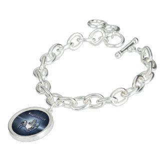 Chrome Sagittarius Charm Bracelet