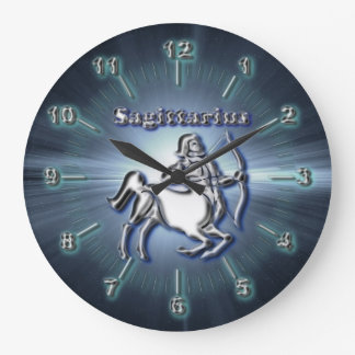 Chrome Sagittarius Large Clock