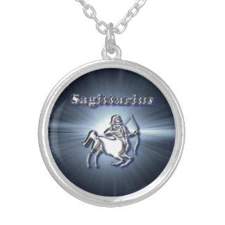 Chrome Sagittarius Silver Plated Necklace