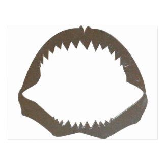 Chrome Shark Jaws Postcard