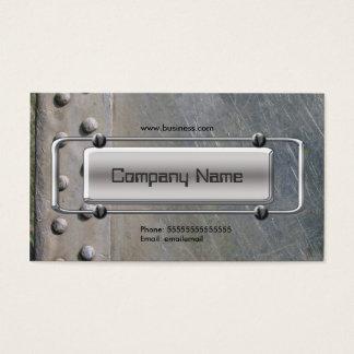 Chrome Silver Grey Metal Company Image Business Card