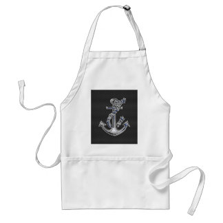 Chrome Silver Style Rope Anchor on Carbon Fiber Standard Apron