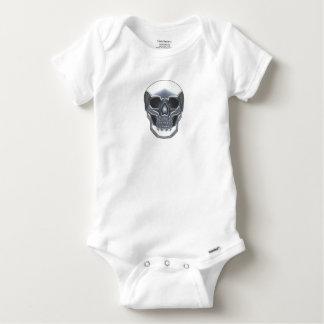 Chrome Skull Baby Onesie