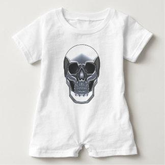 Chrome Skull Baby Romper