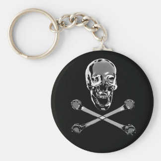 Chrome Skull Keychain