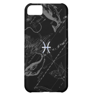 Chrome Style Pisces Zodiac Sign on Hevelius iPhone 5C Cases