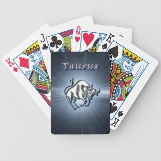 Chrome Taurus Bicycle Playing Cards