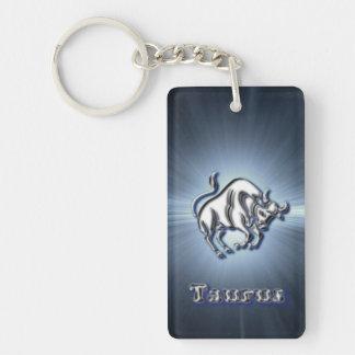 Chrome Taurus Keychain