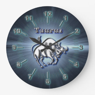 Chrome Taurus Large Clock
