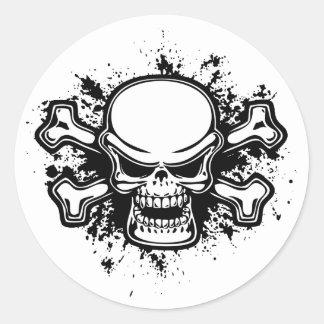 Chromeboy -Splat Classic Round Sticker