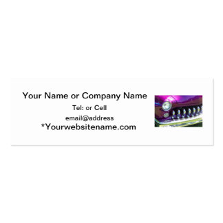 chromed out grill of a 40 s classic with purple pa business card template