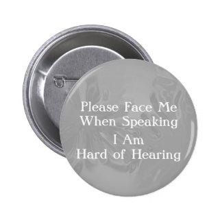 Chromel dur de bouton d'audition macaron rond 5 cm