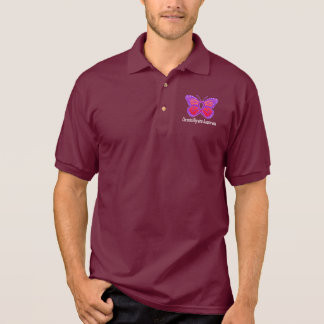 Chronic Migraine Awareness Butterfly Polo Shirt