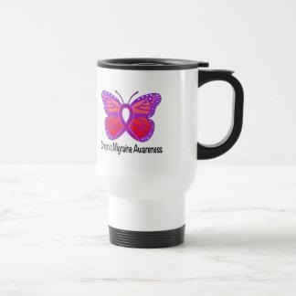 Chronic Migraine Awareness Butterfly Travel Mug