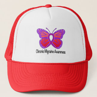 Chronic Migraine Awareness Butterfly Trucker Hat