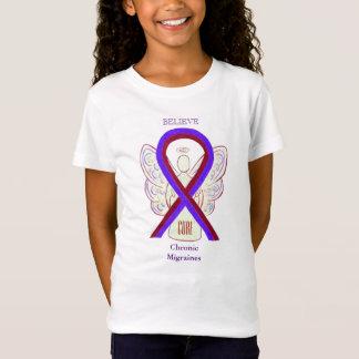 Chronic Migraines Awareness Ribbon Angel Shirts