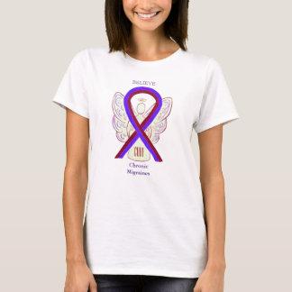 Chronic Migraines Awareness Ribbon Custom Shirts