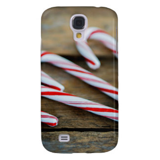 Chrstmas Candy Canes on Vintage Wood
