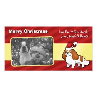 Chrstmas Cavalier King Charles Spaniel Photo Card
