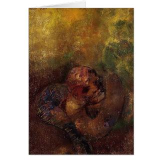Chrysalis by Odilon Redon Card