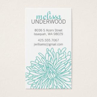 Chrysanthemum Blossom Calling Card