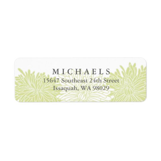 Chrysanthemum Blossom Return Address Labels