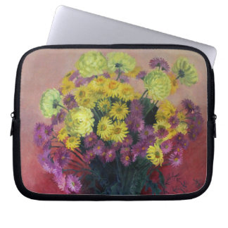 Chrysanthemum bouquet - Neoprene Laptop Sleeve