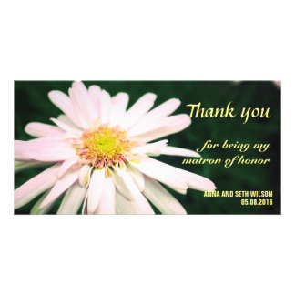 Chrysanthemum Bridesmaid Thank You Card Photo Card Template