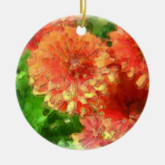 Chrysanthemum Ceramic Ornament