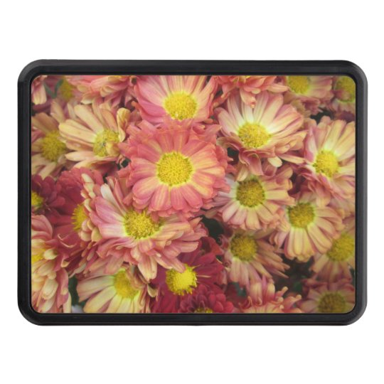 Chrysanthemum Cluster Garden Yellow Pink Trailer Hitch Covers