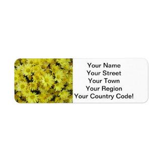Chrysanthemum Cluster Garden Yellow Return Address Label