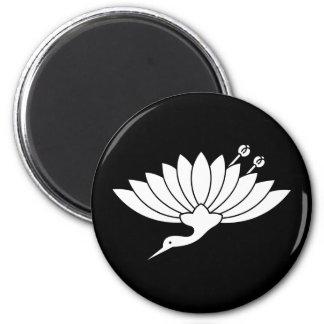 Chrysanthemum crane magnet