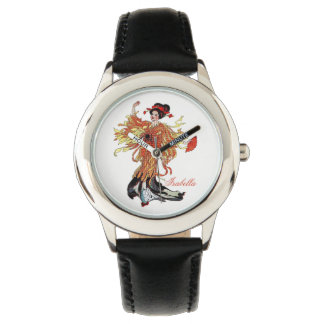 Chrysanthemum Cute Flower Child Floral Funny Girl Watch