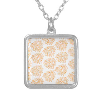 Chrysanthemum Floral Pattern Silver Plated Necklace
