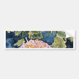 chrysanthemum flower art print gifts bumper sticker