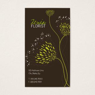 Chrysanthemum Flowers Elegant Floral Business Card