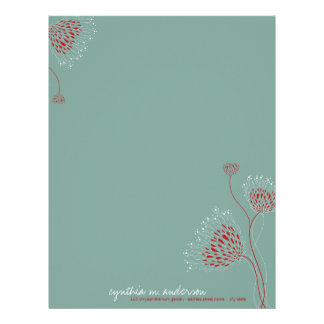 Chrysanthemum Flowers Elegant Floral Letterhead