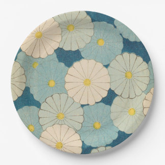 Chrysanthemum Flowers Paper Plate