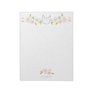Chrysanthemum Garden Cat XL Notepad