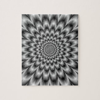 Chrysanthemum in Black and White Puzzle