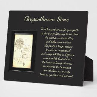 Chrysanthemum Stone Crystal Fairy Plaque