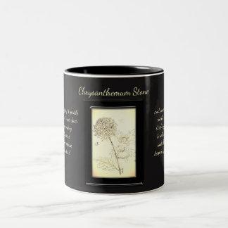 Chrysanthemum Stone Crystal Fairy Two-Tone Coffee Mug