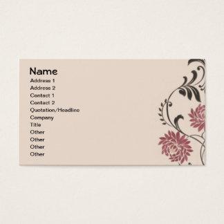 Chrysanthemum Vintage Wallpaper Business Card