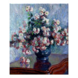 Chrysanthemums by Claude Monet Poster