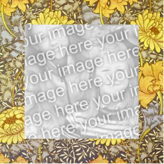 Chrysanthemums by William Morris Photo Cut Out