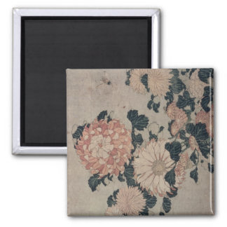 Chrysanthemums (colour woodblock) magnet